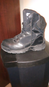 Mens Black Steal Toe Boots