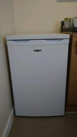 Whirlpool white under counter fridge freezer