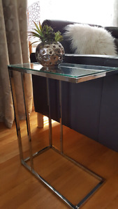 Two side tables and coffee table.