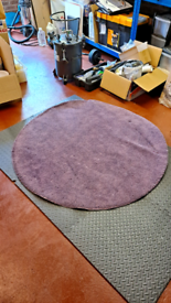 Purple floor rug