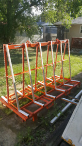 Double sided a frame transport rack