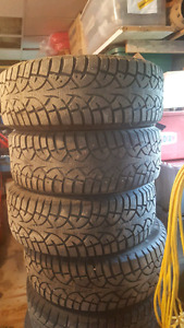 Selling my 215/55/r16 studed winter tires
