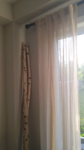 Sheer Linen Curtain Panels from Bouclair
