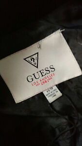 Womens Guess Jacket XS - Black & faux leather Cambridge Kitchener Area image 2