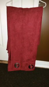 "Curtain   burgundy 2 panels . Each panel is 54"" wide by 80"" long"