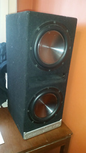 "2 10"" clarion subs in bassworks subbox"