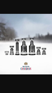molson canadian replica stanley cup trophy