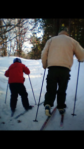 Kids Cross country skiis/poles/boots