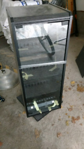 VCR tape glass cabinet
