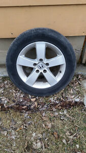 Honda Alloy Rims with tires