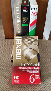 VHS CASSETTES FOR 6 HR RECORDING USED