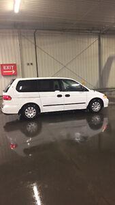 2002 Honda Odyssey White Minivan, Van