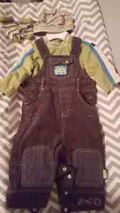Baby boy overall set - size 9M