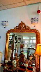 Beautiful Gold Leaner Mirror