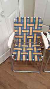 2 Vintage Web Outdoor Chairs