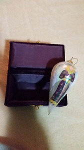 Beautiful Glass Hand Painted Angel Teardrop Ornament