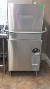 Hobart AM15 Flow Thru Hi Temp Dishwasher - Like new!