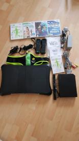 Black Nintendo Wii fit