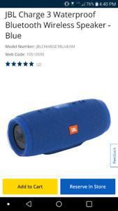 New JBL Charge 3 bluetooth speaker