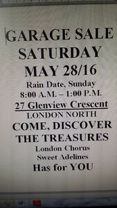 Garage Sale in Support of London Sweet Adelines