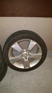 Mazda Aloy Rims 5x114.3 with all season tires 205-50-17