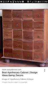 Looking to buy apothecary chest or card catalogue