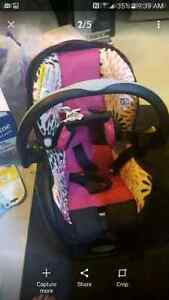 Pink & Black EVENFLO Car Seat