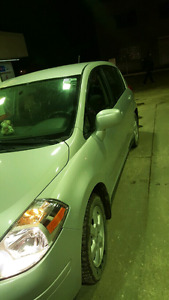 I have 2008 Nissan versa . For sale amazing on gas .will trade