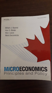 Microeconomics Principles and Policy - 1st Edition
