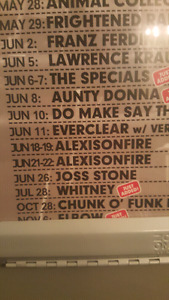 Looking for 3 Floor Tickets to Alexisonfire Sunday June 18th