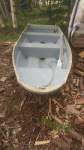 TRADES!!  12 FOOT WITH OUTBOARD