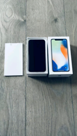 Great Condition Unlocked iPhone X Silver 64gb with Brand New Charger