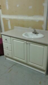 "Bathroom Vanity, 48"" wide, with Sink and taps"