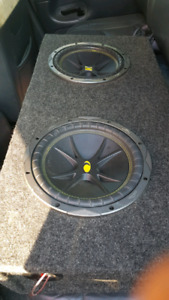 "10"" 500 watt rms kicker subs and ssl 1500watt rms amp"