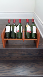 Napa Valley Wood Adjustable Wine Storage Rack Case Holder Shelf
