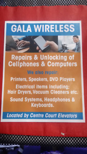 , COPY/SCAN SERVICES HOME APPLIANCE  ,GREAT DEALS- GALA WIRELESS
