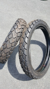 2 Kendra dual sport tires  18 and 21 inch