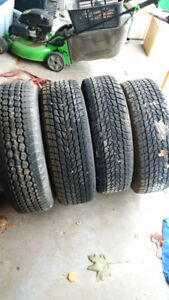 """Snowtires mounted on 15"""" rims came off 03 E150 $125.00 OBO"""