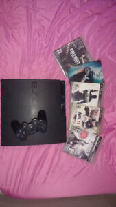 PS3 System with 5 games including call of duty games