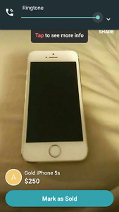 Iphone 5S gold 1 year old