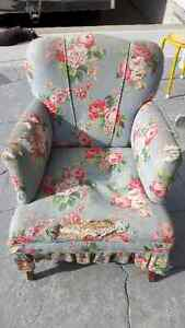 Antique Upholstered Chair (1920's)