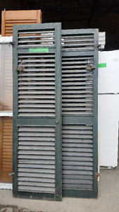 Antique Shutters with Hardware