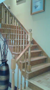 Staircase banister & stairs - Escalier main courante + escaliers