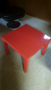 IKEA red coffee table