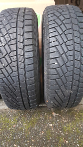 Pair of Continental winter tires