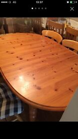 Extended dining room table and chairs free delivery
