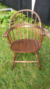 Two Solid Oak Captain's Dining Chairs