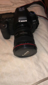 Canon digital camera and LENS with strap mark II