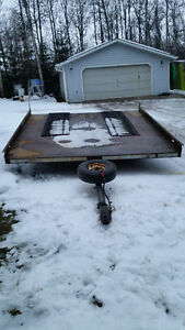 All Steel Twin Tilting Deck ATV Trailer W/Spare Tire