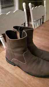 nice pair of Varese Wyoming Brown Leather Zip Ankle mens Boots